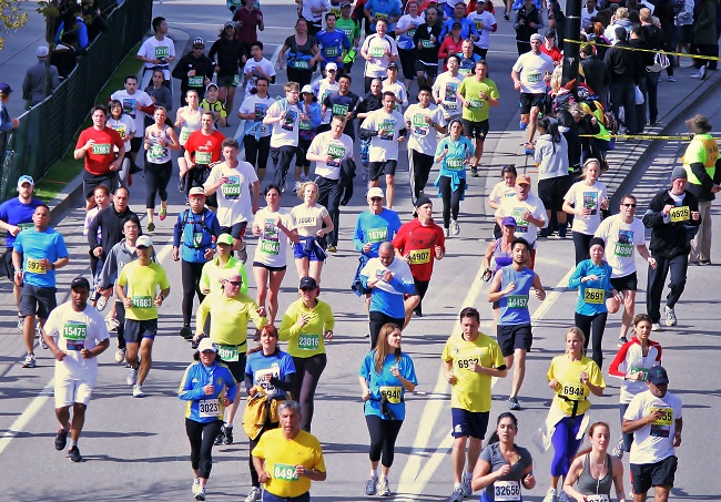 Vancouver Sun Run athletes show support for Boston