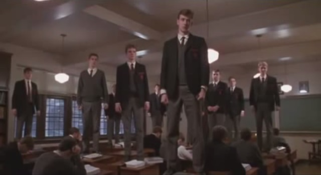 O Captain! My Captain! The classic scene from Robin Williams' 1989 film Dead Poets Society (produced by Touchstone Pictures and Silver Screen Partners IV.)